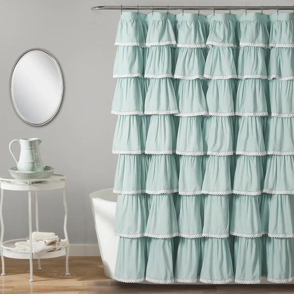 Lace Ruffle Shower Curtain  Lush Decor  wwwlushdecorcom