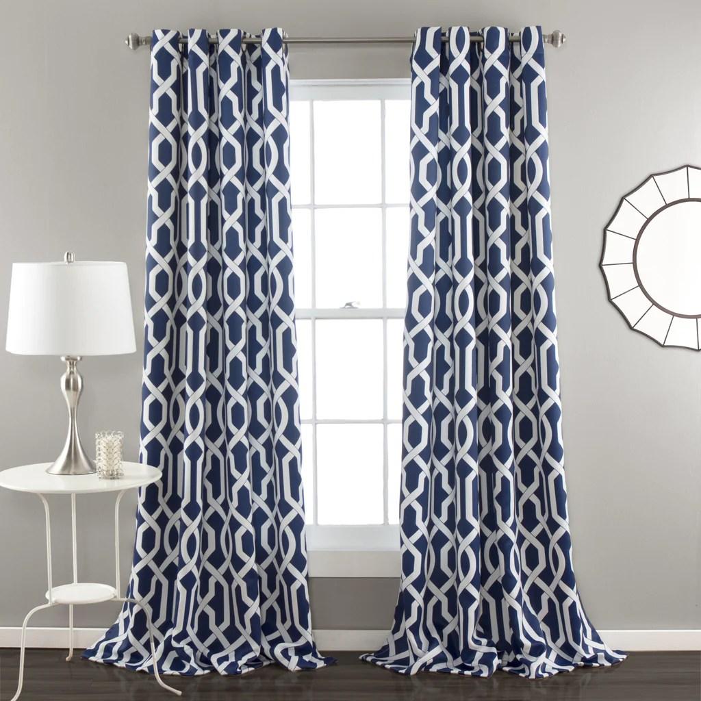 Navy Curtain Panels Roselawnlutheran