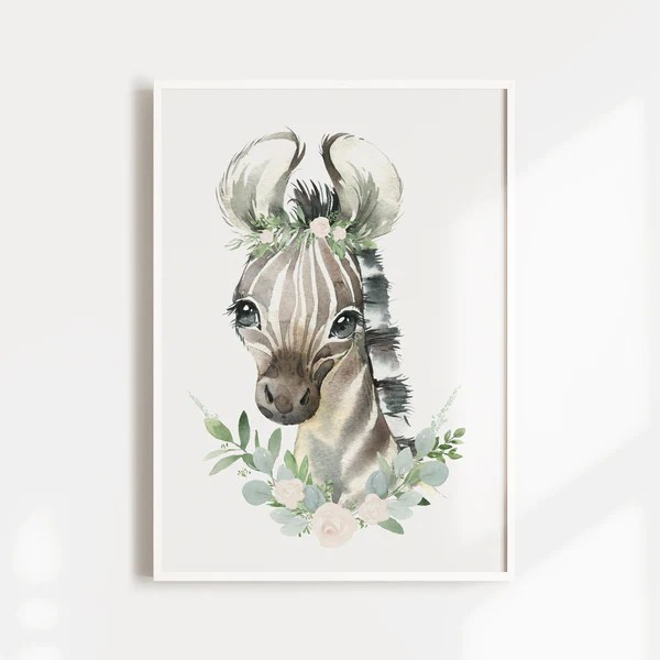 Safari Nursery Prints Baby Aniamls Elephant Zebra Lion The Kids Print Store