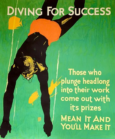 diving for success you