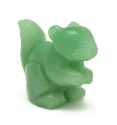 squirrel green aventurine hand