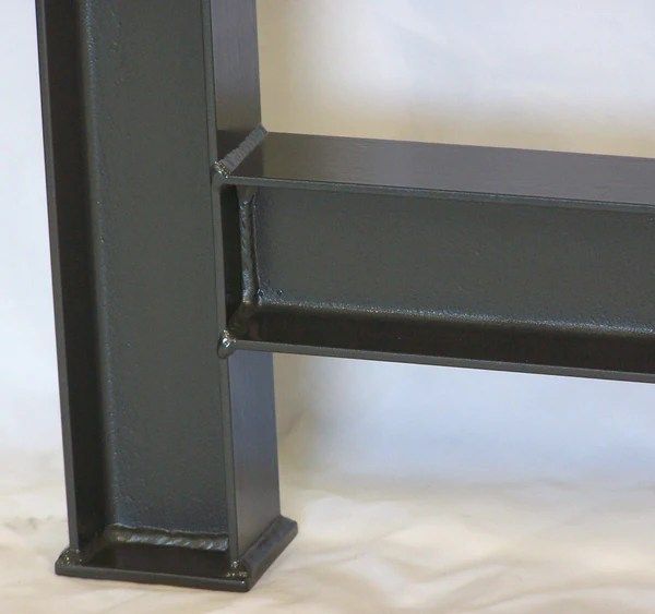 Industrial Table Legs Massive Structural Steel I Beam