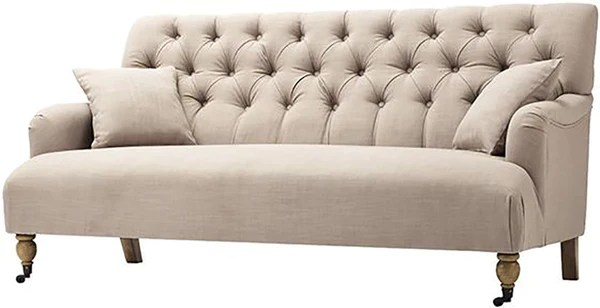 tufted button sofa chester 3 plazas barato illusions tents rentals and event design store
