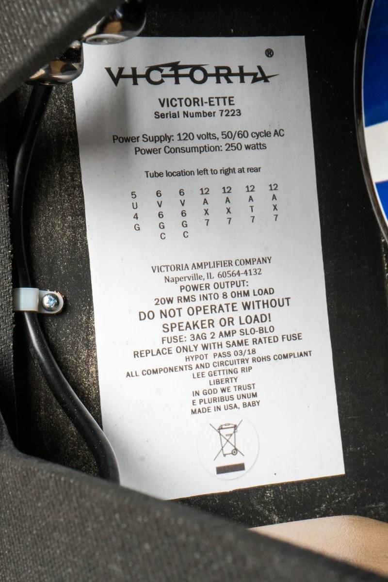 hight resolution of victoria victoriette 20w 1x12 combo
