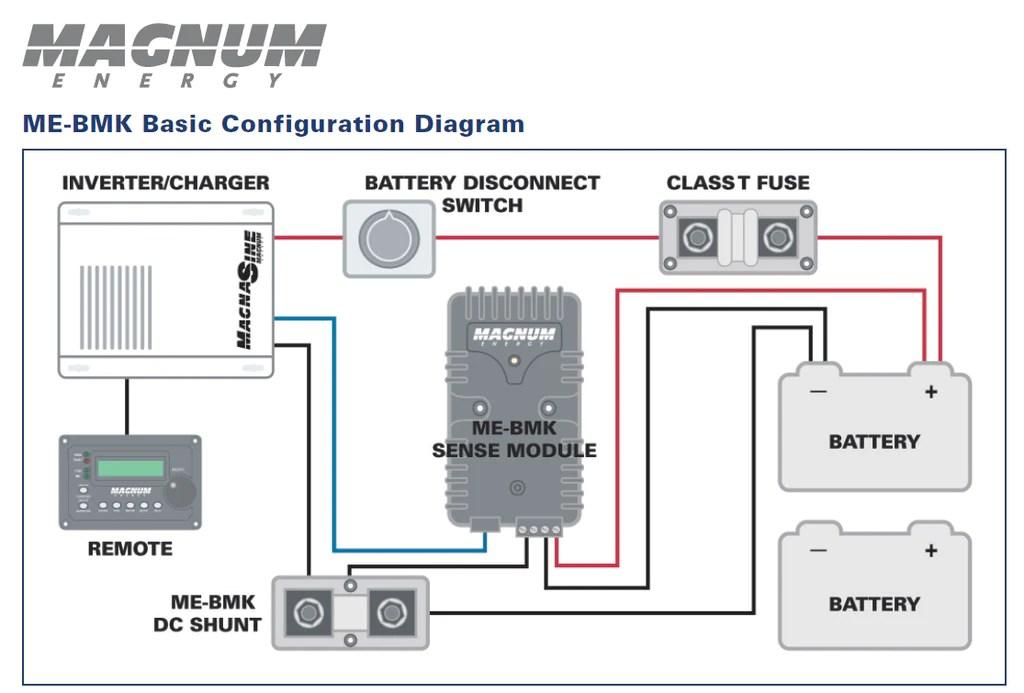 Amp Meter Wiring Diagram For Installation Magnum Battery Monitor Kit Me Bmk Campervan Hq