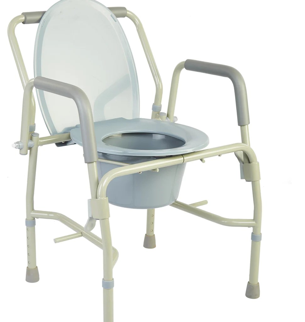 Bedside Commode Chair M301 Drop Arm Bedside Commode With Padded Arms