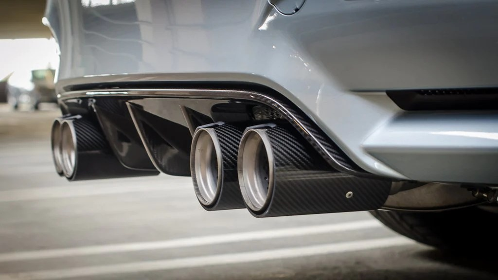 genuine bmw m performance exhaust tailpipe tips m3 m4 f80 f82 f83 mode auto concepts