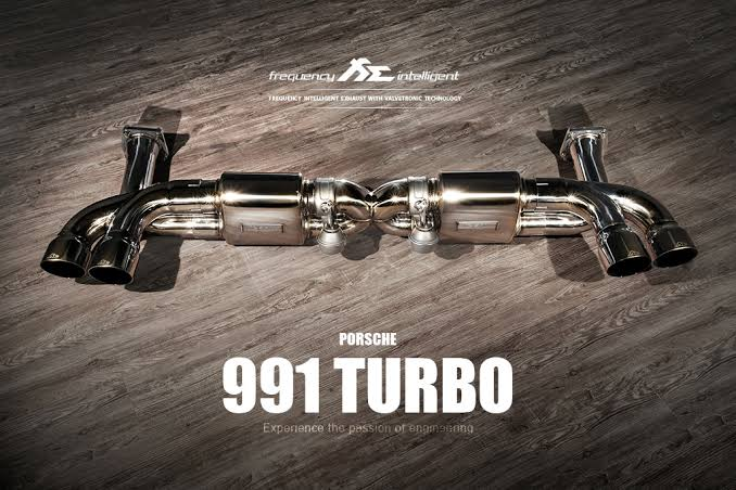 fi exhaust frequency intelligent exhaust system w remote suits porsche 911 turbo 991 991 1 991 2