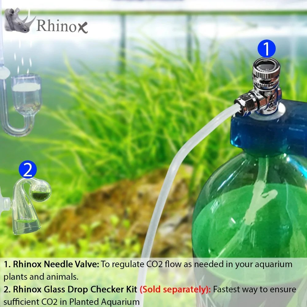 medium resolution of rhinox stainless steel needle valve necessary for accurate co2 regul luffy pets