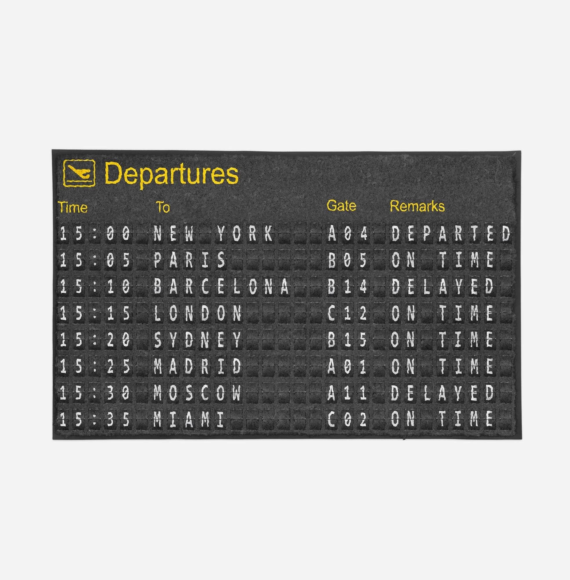 airport departure sign designed