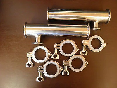 2 Tri Clamp RIMS Tube Kit SS304 with Clamps and Seals