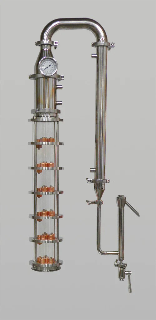 4 Borosilicate Glass Column 6 Plate Column  Affordable
