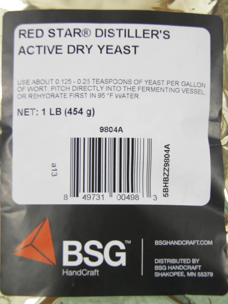 Distillers Active Dry Yeast  Red Star DADY 1 lb pack