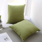Green Pillow Covers 18x18 Inch 45cm Set Of 2