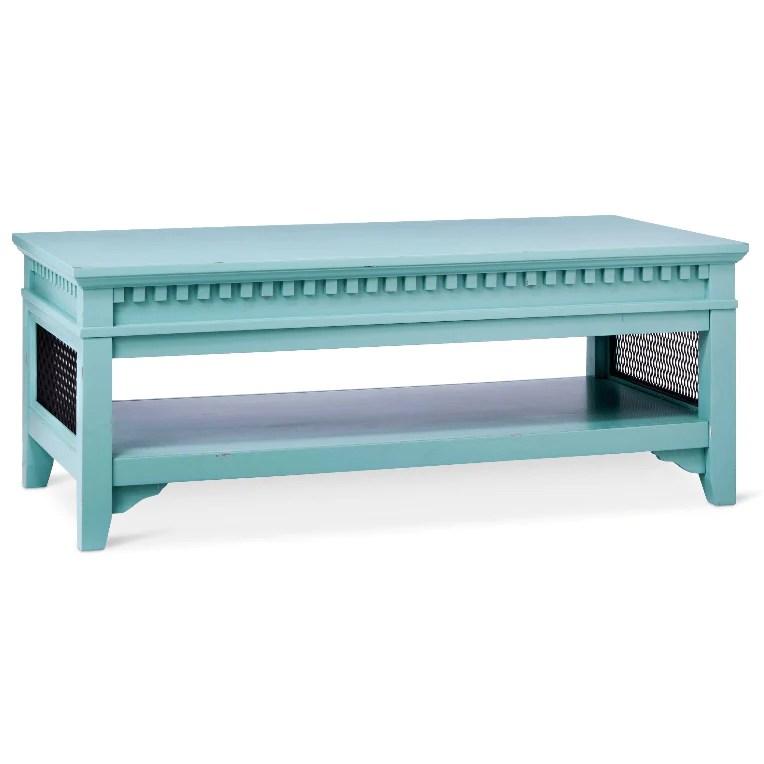 beekman coffee table turquoise blue on sale