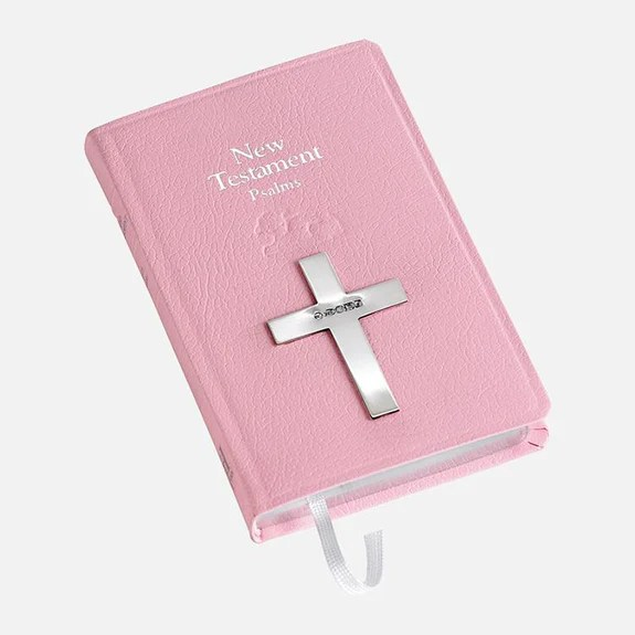 pink new testament bible