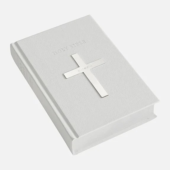 white holy bible plain
