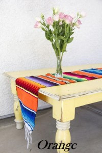 Mexican Serape Blanket Table Runner - Del Mex