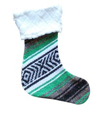 Classic Falsa Christmas Stocking with Sherpa - Del Mex