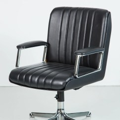 Black Leather Desk Chairs Dining Room With Wheels Osvaldo Borsani Chair Orange Furniture Los Angeles