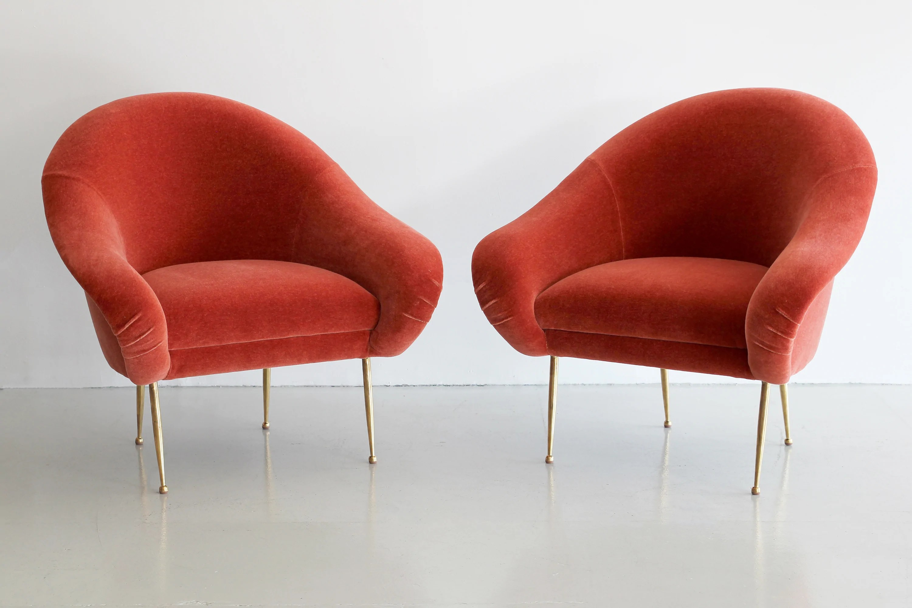 orange chair salon cafe rattan french bistro chairs pair of slipper by furniture los angeles