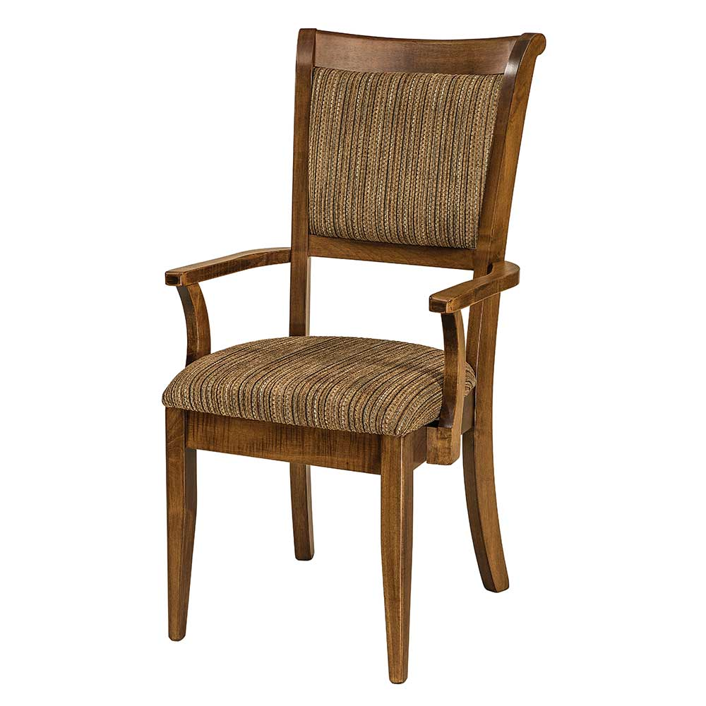 upholstered arm dining chair hanging no stand adair home and timber
