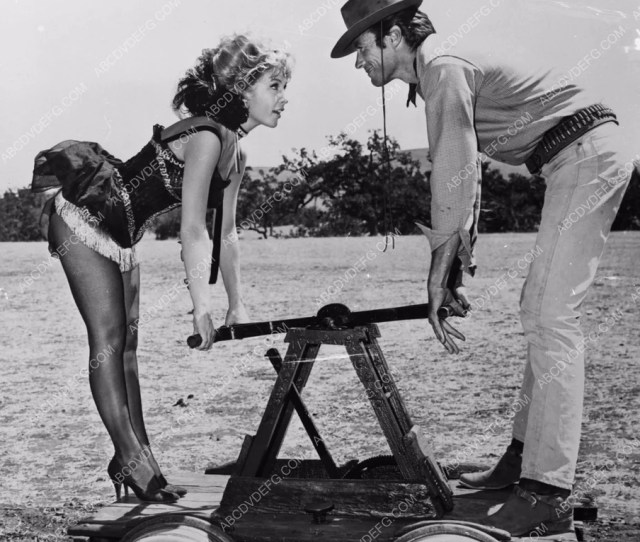 Barbara Eden Sexy Chorus Girl Helps Clint Eastwood Western Tv