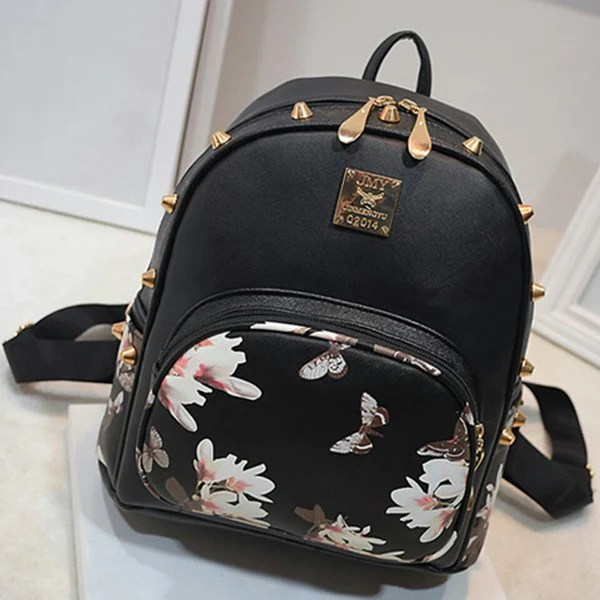 Floral Butterfly Backpack Small Bag  MyDealznet