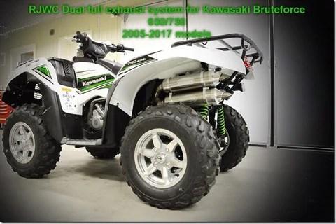 kawasaki brute force 650 750 dual full mud edition rjwc exhaust system