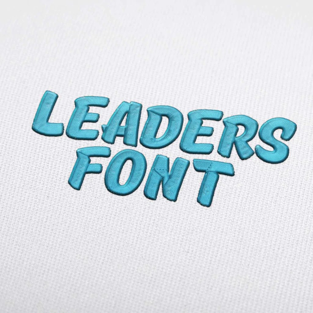 Download Leaders Font - Machine Embroidery Design Fonts Download ...