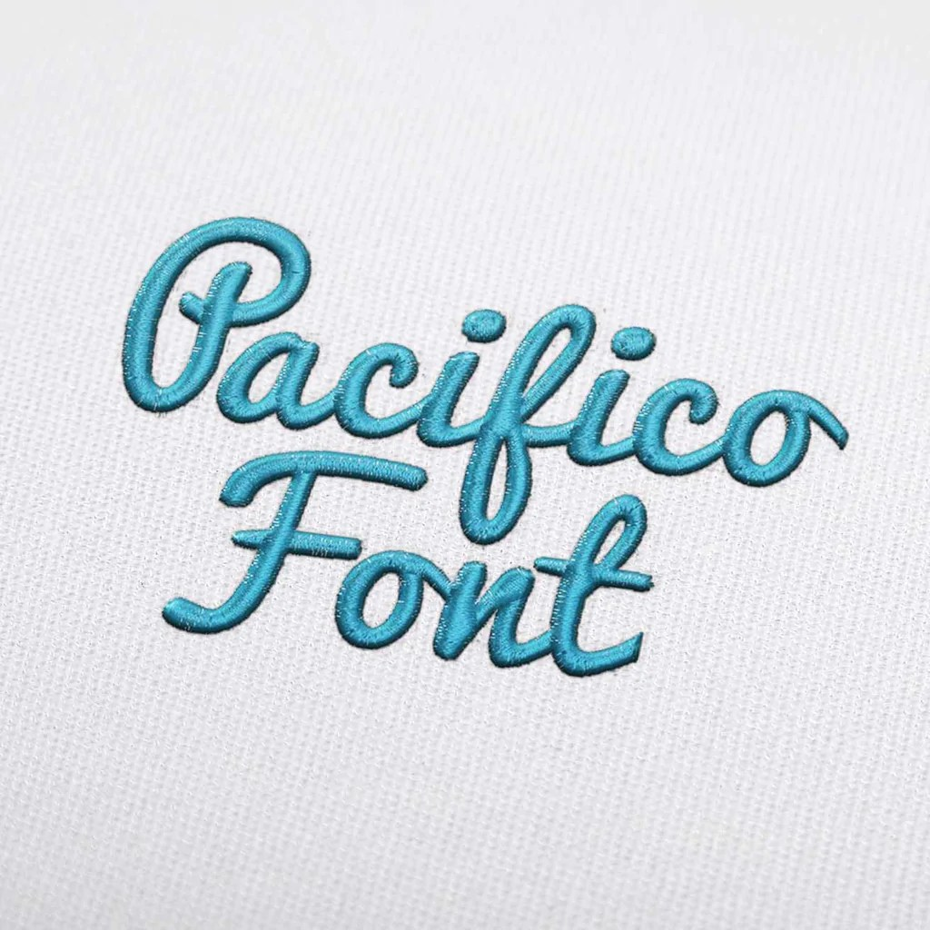 Download Pacifico Font - Machine Embroidery Design Fonts Download ...