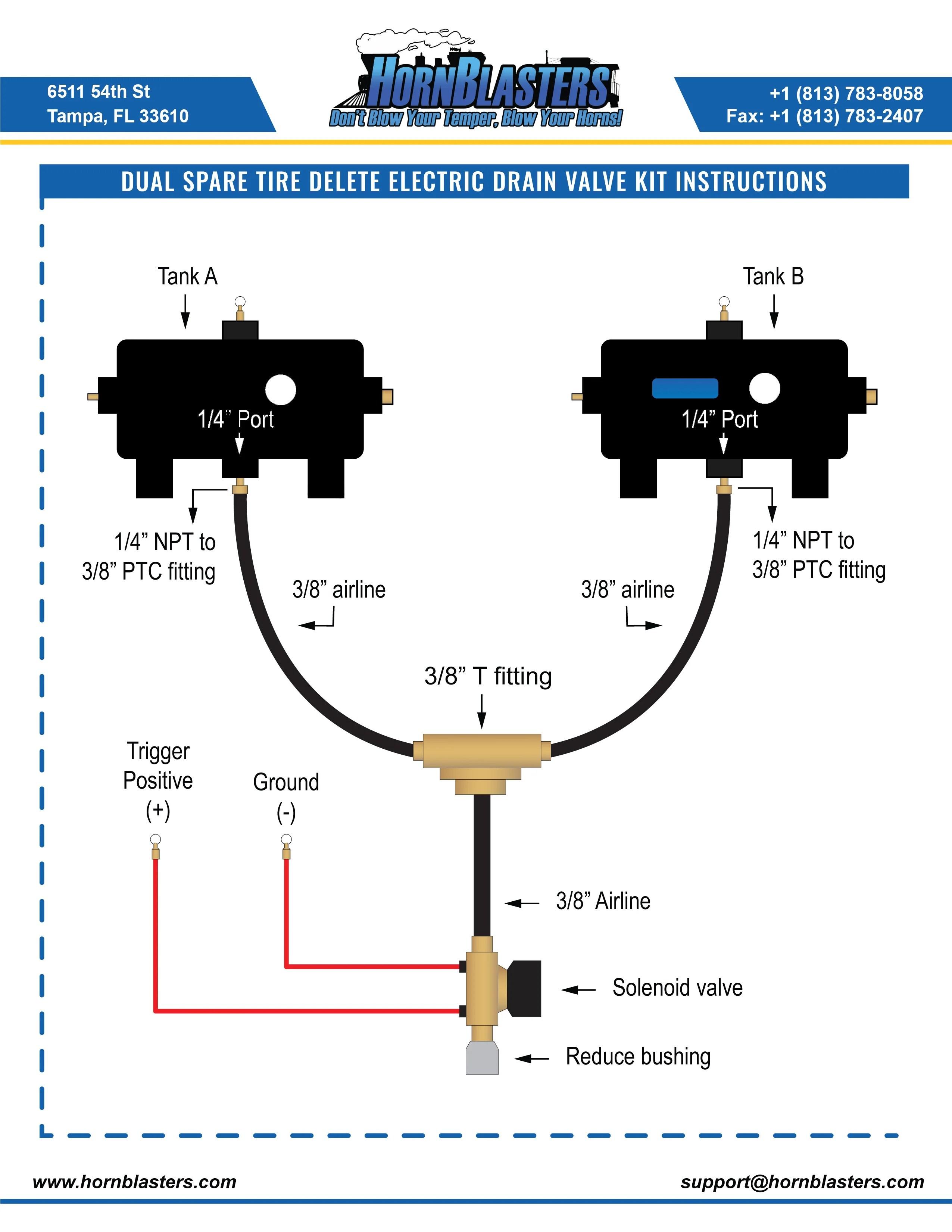 Viair Compressor Wiring Diagram Hornblasters Train Horn Instruction
