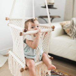 Hanging Chair For Baby Walmart Armless Covers Macrame Hammock Swing Chair- Handmade In Nicaragua - Adelisa & Co