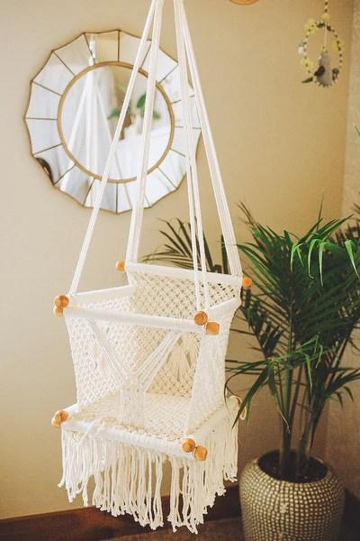 hanging chair for baby buffalo check macrame hammock swing chair- handmade in nicaragua - adelisa & co