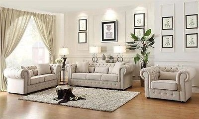 beautiful living room furniture set design ideas for small spaces beige button tufted sofa loveseat