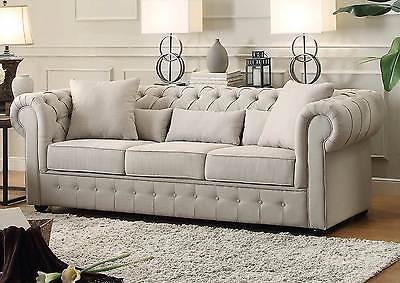 beautiful living room furniture set wood ceiling design beige button tufted sofa loveseat couch