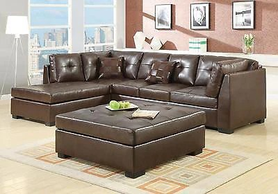 leather sofa set for living room best wall hangings cool contemporary brown sectional furniture