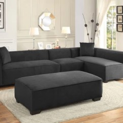 Chaise In Living Room Flower Decoration For Modern Extendable Graphite Sofa Sectional Furniture Set