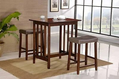 pub kitchen table target stools 3 pc white bistro dining saddleback room furniture set