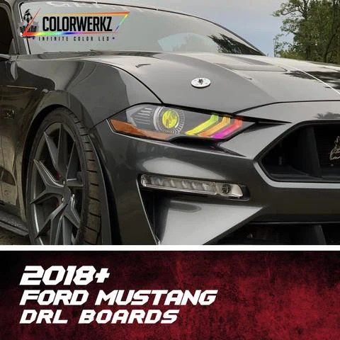 How does the ford mustang gt convertible compare to the ford mustang shelby gt500? 2018 2021 Ford Mustang Rgbw Color Chasing Rgbw A Led Drl Boards Autoledtech Com