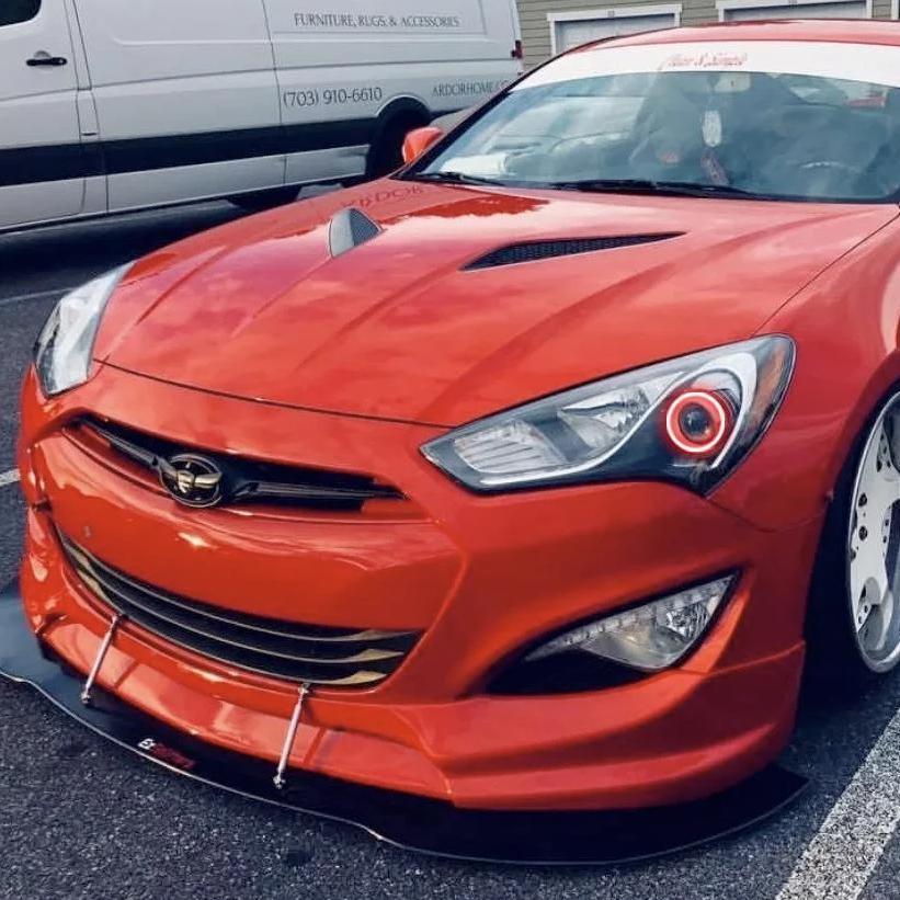 2013 2019 hyundai genesis coupe color chasing led halo kit autoledtech com [ 1000 x 1000 Pixel ]