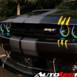 2015 2020 Dodge Challenger Rgbw Color Chasing Halo Kit Autoledtech Com