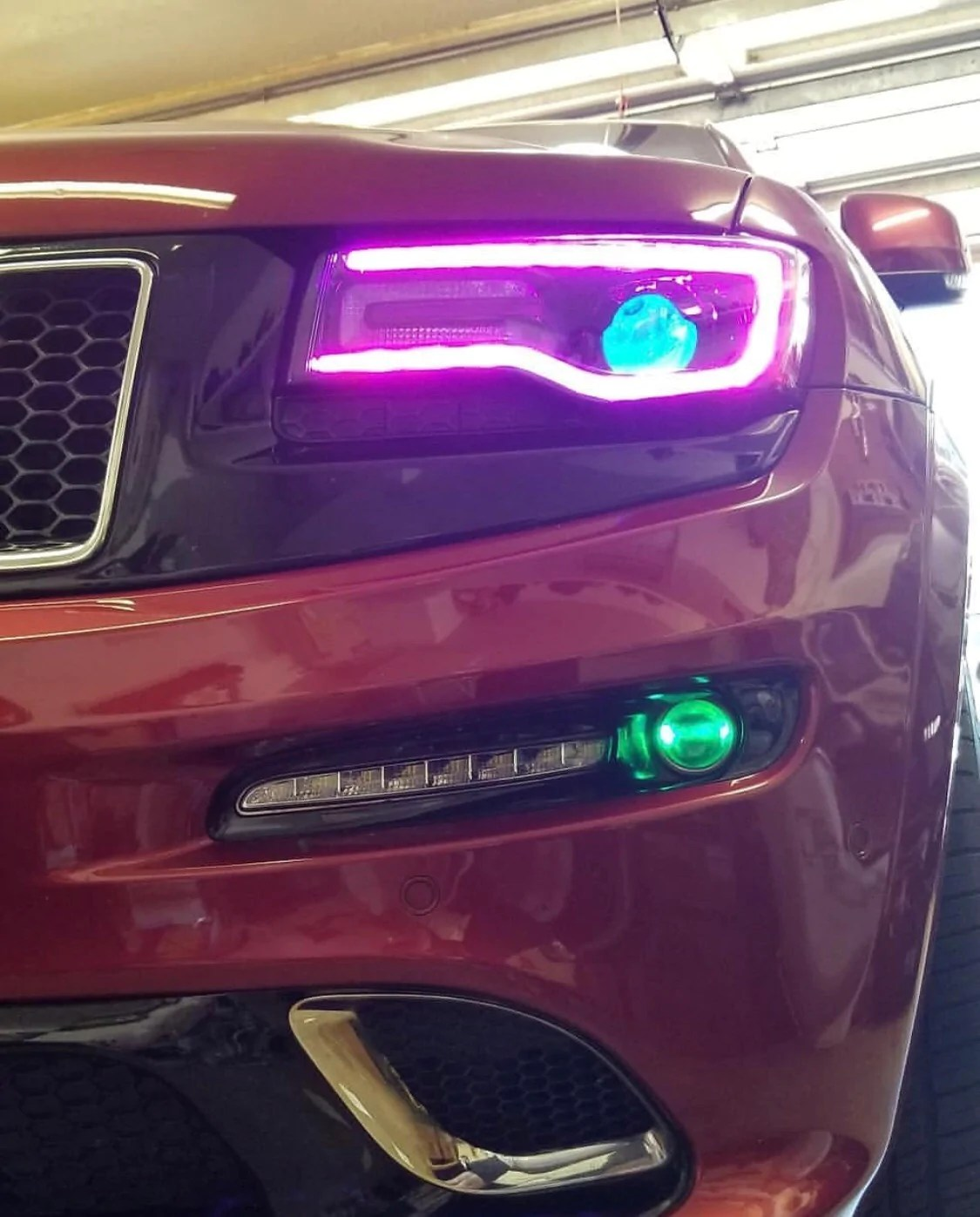 Jeep Grand Cherokee Headlight Replacement : grand, cherokee, headlight, replacement, 2014-2021, Grand, Cherokee, +A/Color-Chasing, Boards, AutoLEDTech.com