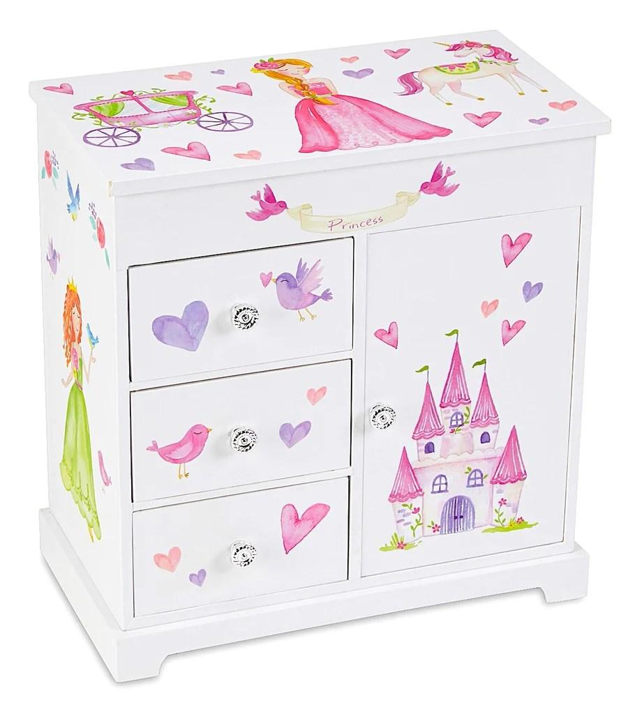 ashley musical jewelry box w drawers
