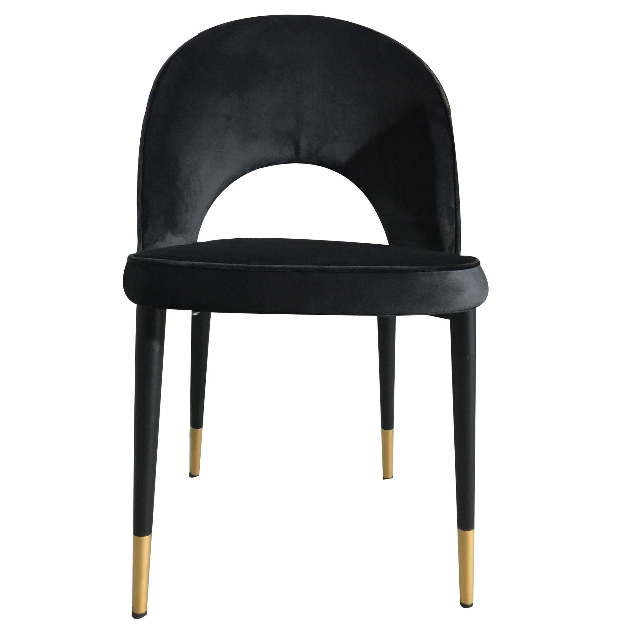 Dining Chair Dimensions Bourdain Dining Chair Black Velvet