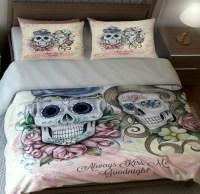 Sugar Skull 'Always Kiss Me Goodnight' Bedding  Sugar ...