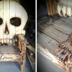 Wooden Skull Chair Eastlake Rocking Skully Outdoor Sugar Culture