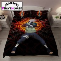 Kakashi Bedding Set, Sheet & Blanket | High quality anime ...