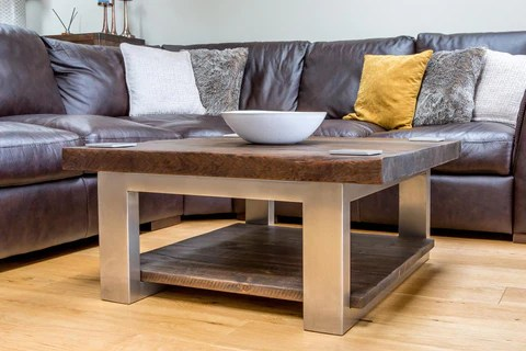 rustic reclaimed wood coffee tables