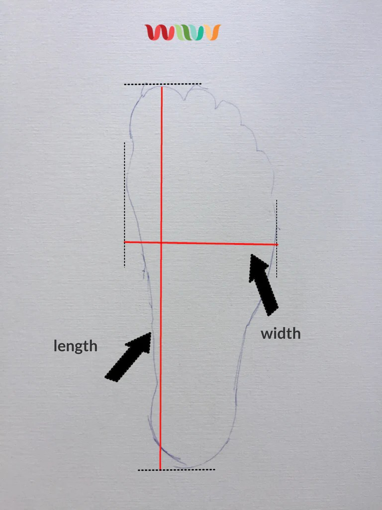 medium resolution of shoe width chart